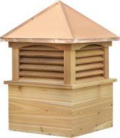 straight copper roof cedar cupola