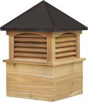 cedar cupola with straight aluminum roof