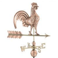 501P rooster weathervane polished copper