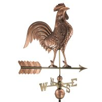 515P large rooster weathervane polished copper