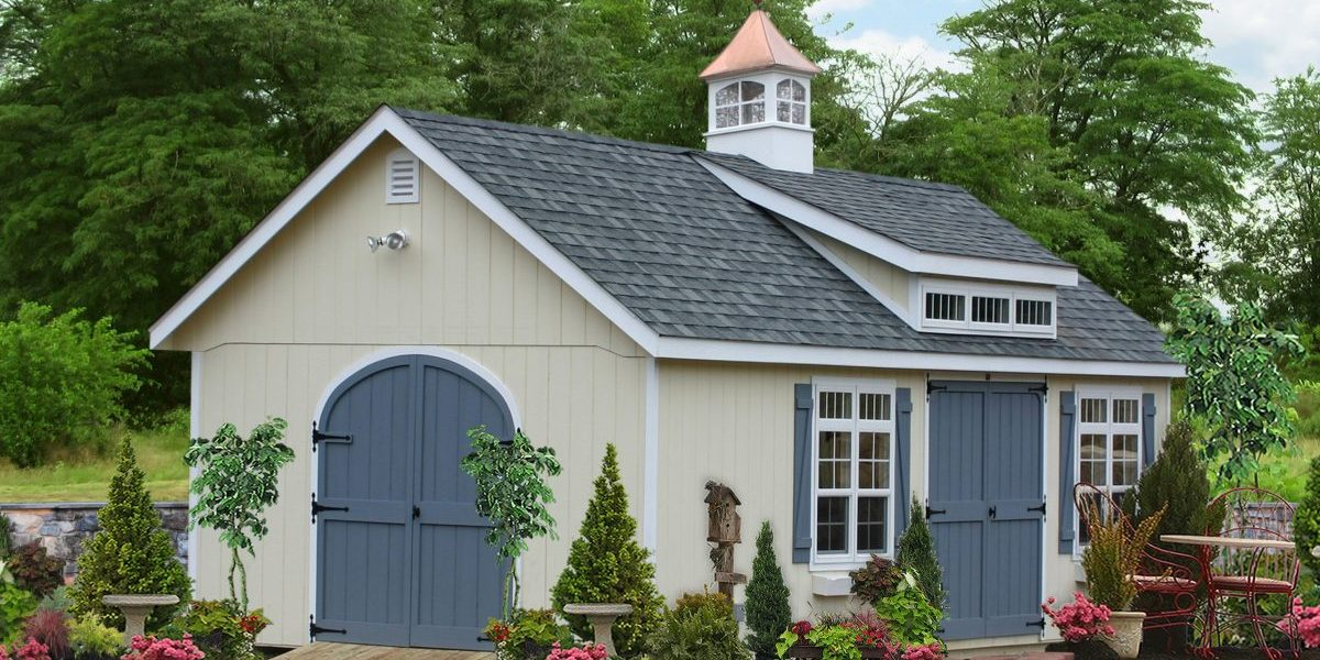 install a weathervane on top of garden shed