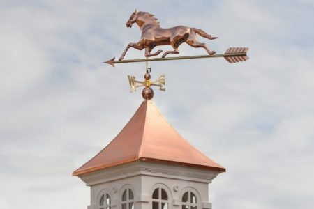 how to install a weathervane on a cupola