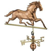 580P horse weathervane polished copper