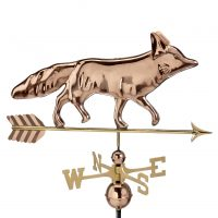 655P fox weathervane polished copper