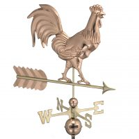 953P smithsonian rooster weathervane polished copper