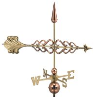 954P smithsonian arrow weathervane polished copper
