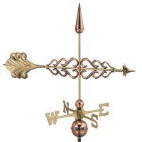 954P smithsonian arrow weathervane polished copper