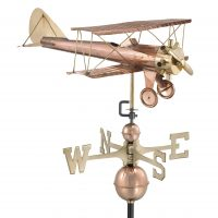 9521P biplane weathervane polished copper