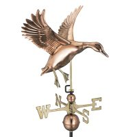 9605P landing duck weathervane polished copper