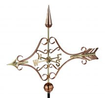 9642P victorian arrow weathervane polished copper