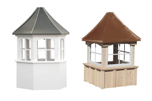 Choose Wood or Vinyl Cupolas