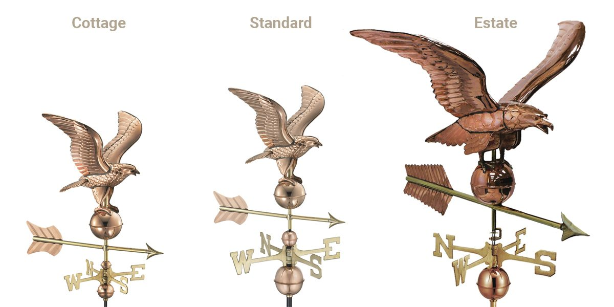 small medium large copper weathervanes for sale