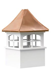 copper house cupola with glass