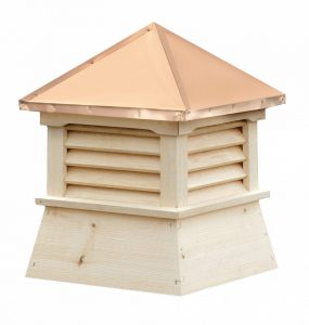 white pine wood shed cupola