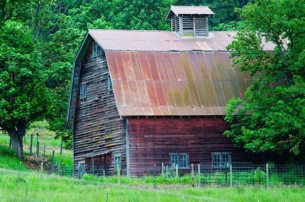 Copper roof cupola old barn