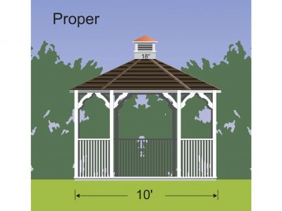 properly sized cupola for a gazebo 18