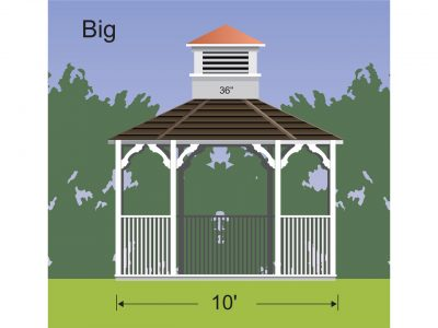 properly sized cupola for a gazebo 36