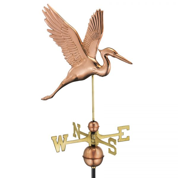 1971p graceful blue heron weathervane pure copper