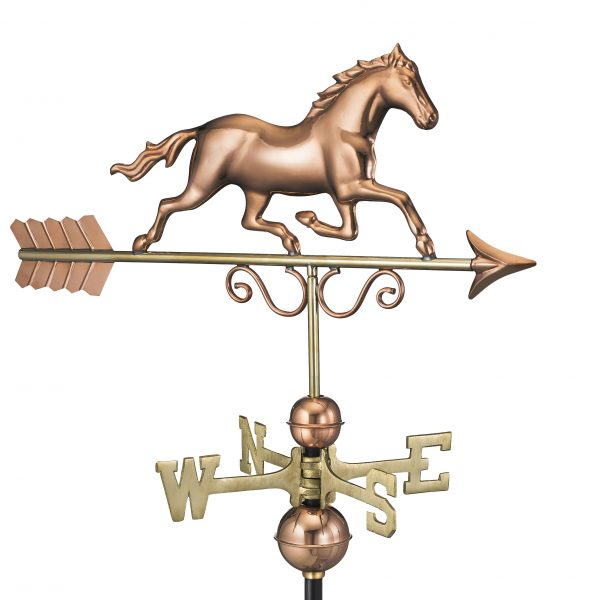 1974p galloping horse weathervane pure copper