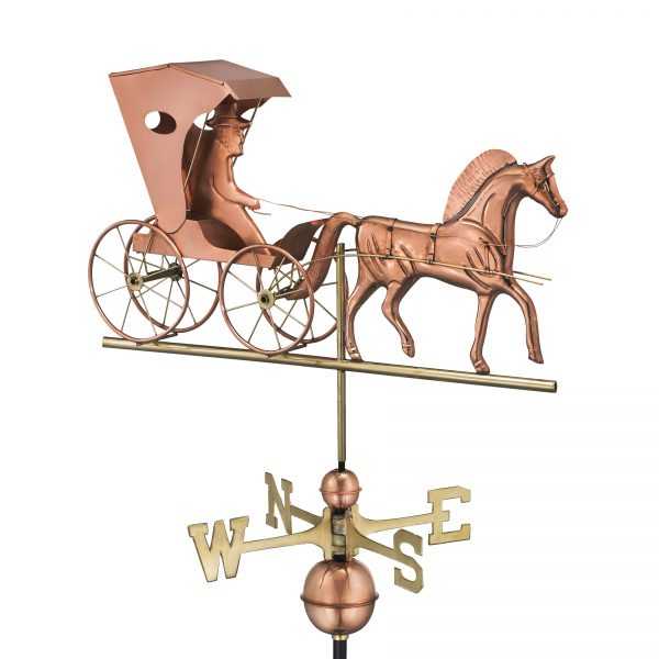 548P country doctor weathervane polished copper