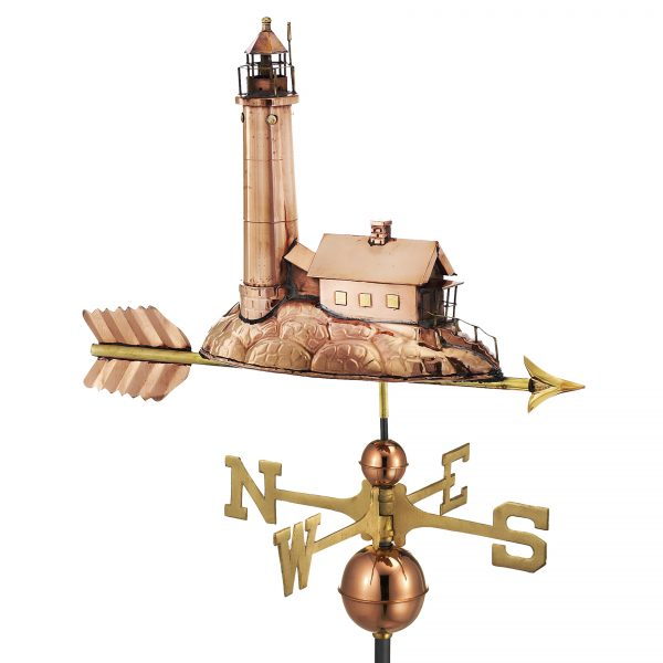 624P lighthouse weathervane polished copper