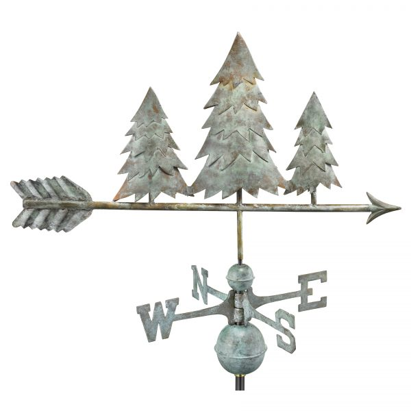 625v1 pine trees weathervane blue verde copper