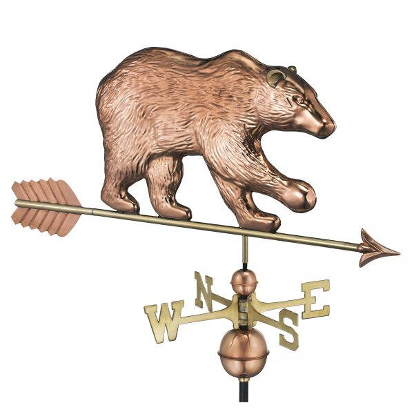 695pa bear weathervane with arrow pure copper