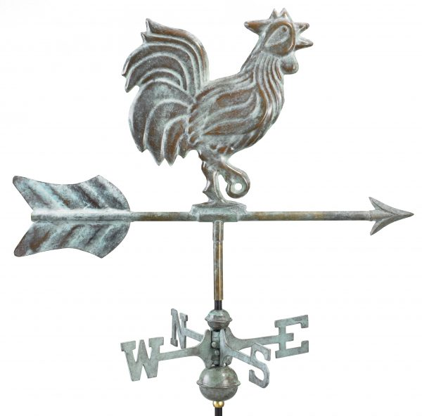 802v1r rooster cottage weathervane blue verde copper