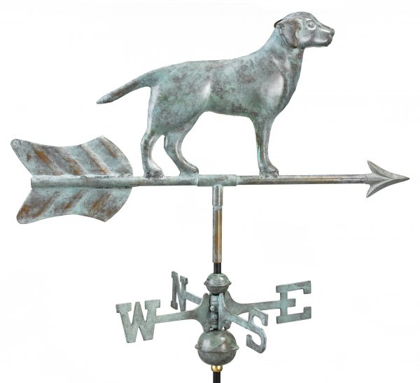810v1r labrador retriever cottage weathervane blue verde copper