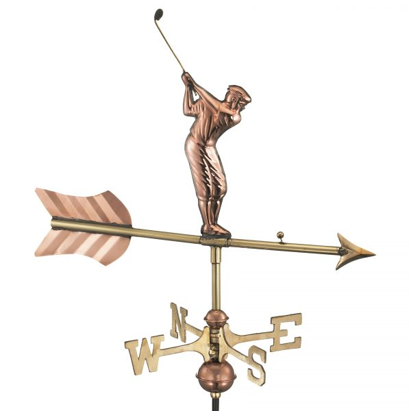 816pr golfer cottage weathervane pure copper