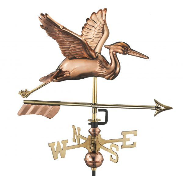 8805par blue heron with arrow cottage weathervane pure copper