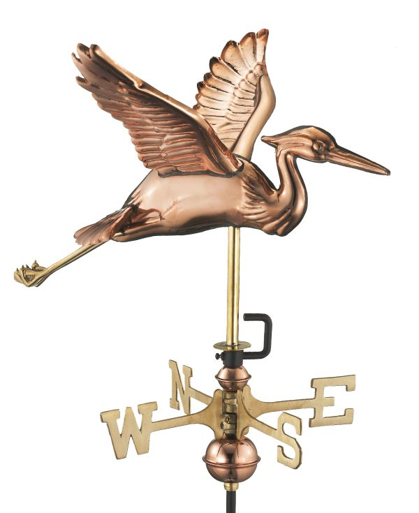 8805pr blue heron cottage weathervane pure copper