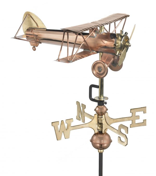 8812pr biplane cottage weathervane pure copper