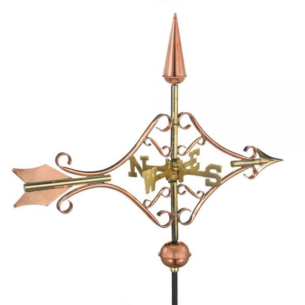 8842pr victorian arrow cottage weathervane pure copper