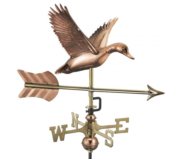 8844par flying duck with arrow cottage weathervane pure copper