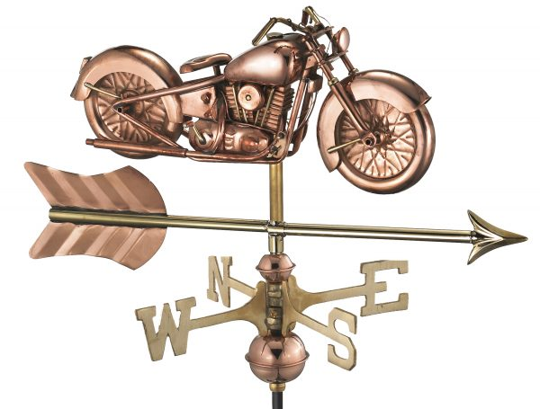 8846par motorcycle with arrow cottage weathervane pure copper