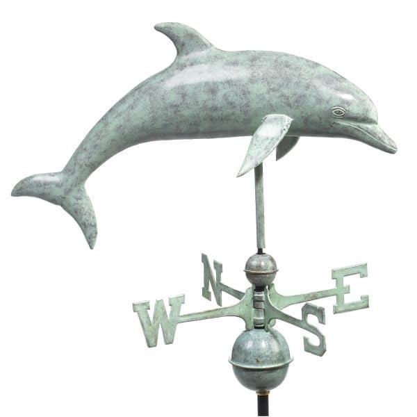 9507v1 dolphin weathervane blue verde copper