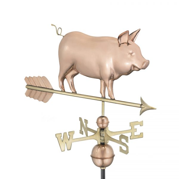 9550p country pig weathervane – pure copper