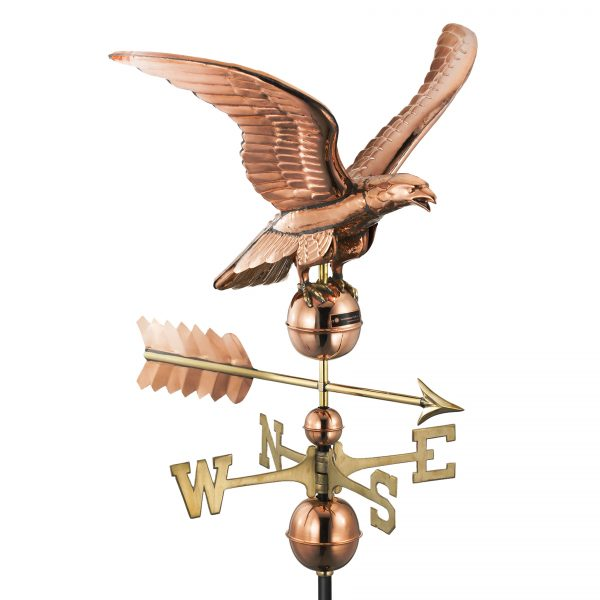 955P smithsonian eagle weathervane polished copper