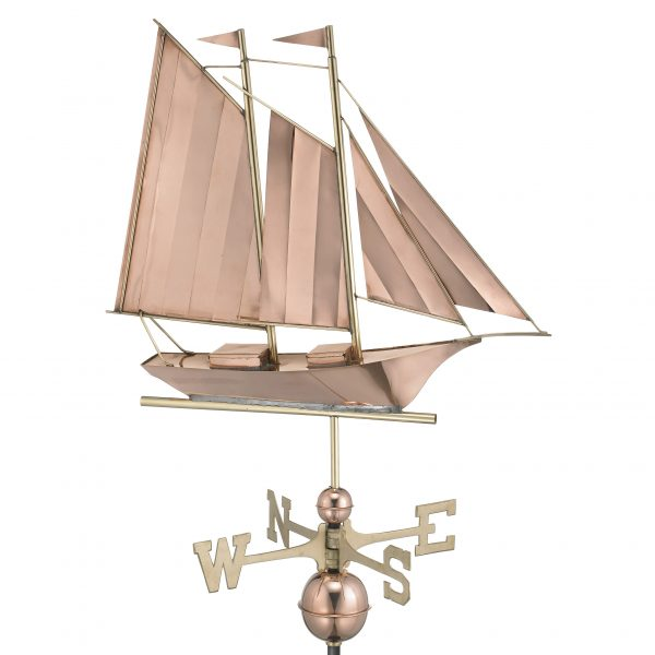 9601P schooner weathervane polished copper