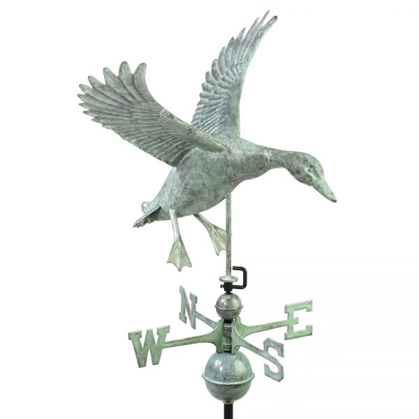 9605v1 landing duck weathervane blue verde copper