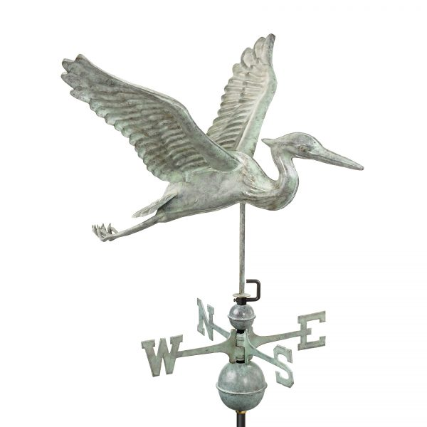 9606v1 blue heron weathervane blue verde copper