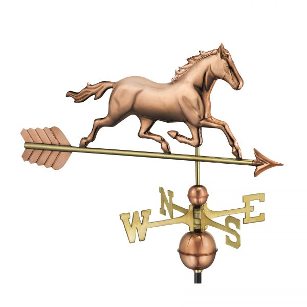 967p trotting horse weathervane pure copper