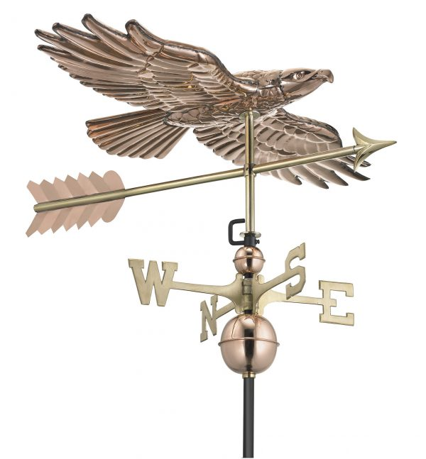 9699pa soaring hawk weathervane pure copper