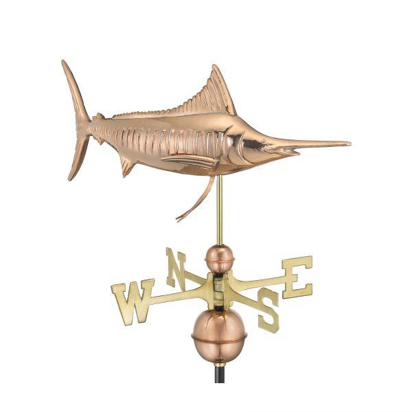 969p marlin weathervane pure copper