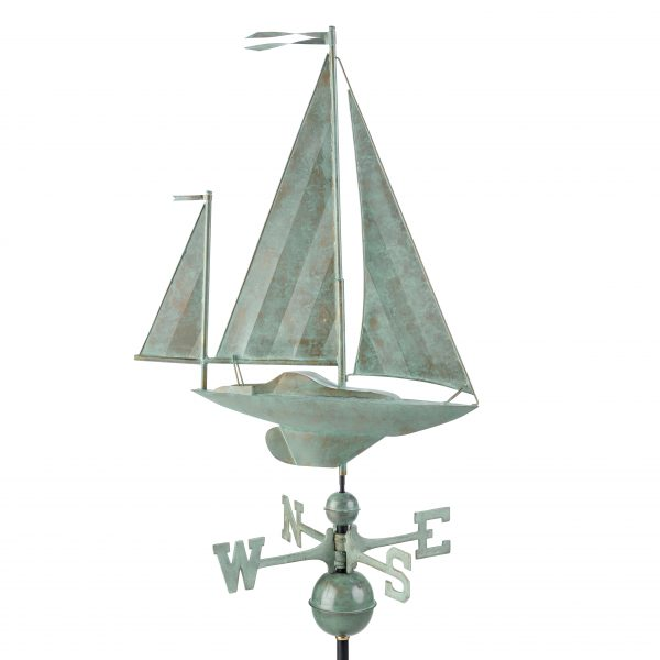 9907sv1 yawl weathervane blue verde copper
